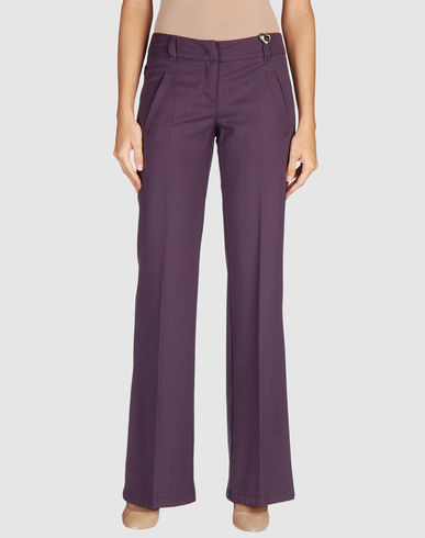 MOSCHINO JEANS -  Dress pants :  wool pants purple pants work pants slacks