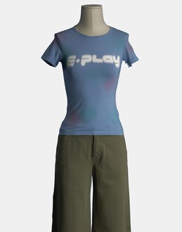 More information or Buy online WOMAN - E.PLAY - TOP WEAR - SHORT SLEEVE T-SHIRT - AT YOOX