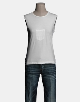 More information or Buy online WOMAN - MARTIN MARGIELA 6 - TOP WEAR - SLEEVELESS T-SHIRT - AT YOOX