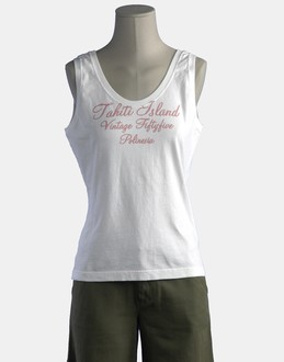 More information or Buy online WOMAN - VINTAGE 55 - TOP WEAR - SLEEVELESS T-SHIRT - AT YOOX