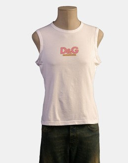 More information or Buy online MAN - D&G - TOP WEAR - SLEEVELESS T-SHIRT - AT YOOX