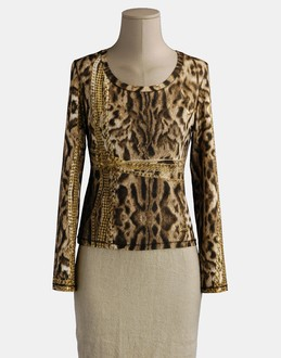More information or Buy online WOMAN - ROBERTO CAVALLI - TOP WEAR - LONG SLEEVE T-SHIRT - AT YOOX