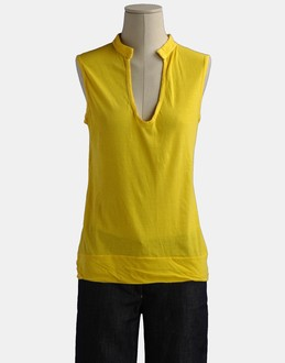 More information or Buy online WOMAN - SCAGLIONE - TOP WEAR - SLEEVELESS T-SHIRT - AT YOOX