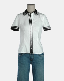 More information or Buy online WOMAN - MOSCHINO JEANS - SHIRTS - SHORT SLEEVE SHIRTS - AT YOOX