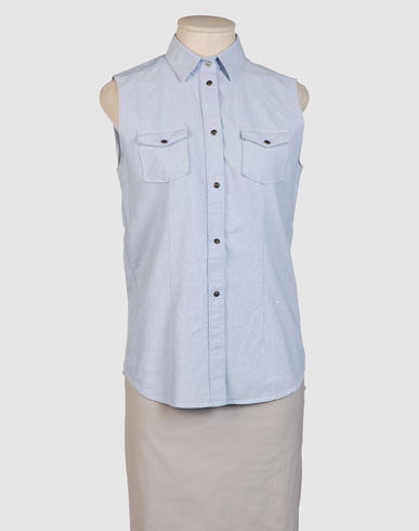M.GRIFONI DENIM - Sleeveless shirt :  denim shirt denim top jean shirt mgrifoni denim