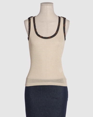 MOSCHINO JEANS Women - Sweaters - Sleeveless sweater MOSCHINO JEANS on YOOX :  wool clothing womens lyocell