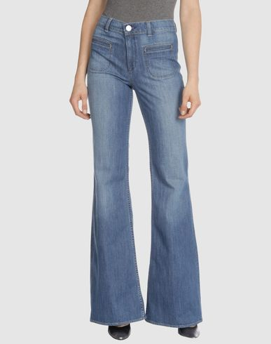 DENIM by VICTORIA BECKHAM - Light wash High waist Flare Leg :  flare leg jeans denim victoria beckham light wash denim