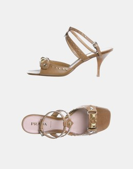 More information or Buy online WOMAN - PRADA - FOOTWEAR - HIGH-HEELED SANDALS - AT YOOX