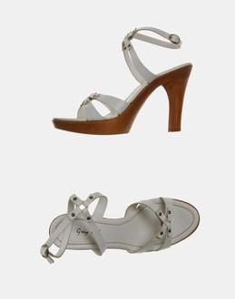 More information or Buy online WOMAN - GREY MER - FOOTWEAR - HIGH-HEELED SANDALS - AT YOOX