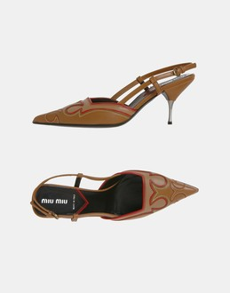 More information or Buy online WOMAN - MIU MIU - FOOTWEAR - SLINGBACKS - AT YOOX