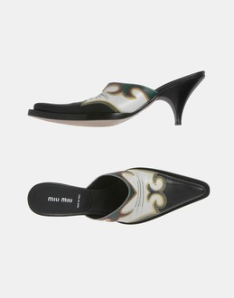 More information or Buy online WOMAN - MIU MIU - FOOTWEAR - MULES - AT YOOX