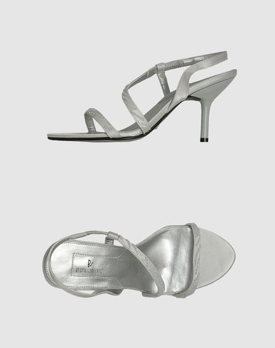 REGINA SCHRECKER - High-heeled sandals :  heeled sandals silver strappy sandals regina schrecker regina schrecker high heeled sandals