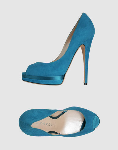 CASADEI - Suede Peeptoe Pumps :  turquoise pumps heels shoes womens shoes