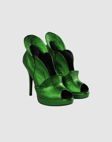 JEROME C. ROUSSEAU Shoe boots  :  green shoes heels