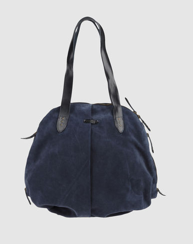 ORCIANI - Medium Leather Bag :  leather bag leather handbag bag blue suede