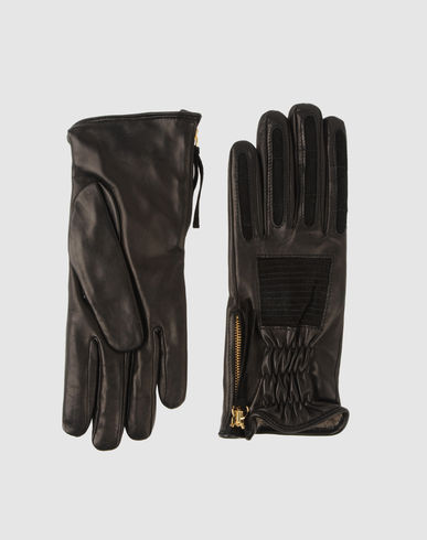 HOMAM - Leather Gloves from yoox.com