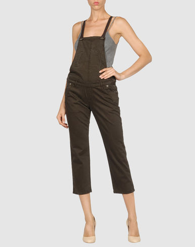 LIU JEANS Women - Overalls - Pant overall LIU JEANS on YOOX :  air force liu jeans navy army